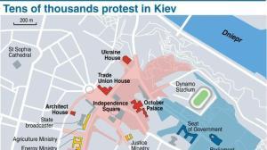 Map of Kiev, Ukraine (credit: AFP)