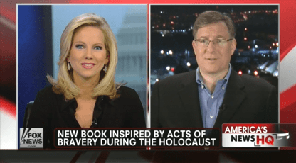 "Discussing ""The Auschwitz Escape"" with Fox News anchor Shannon Bream from Jerusalem."