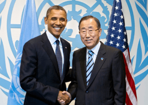 President Obama and UN Secretary General Ban Ki-Moon believe the Iran deal will bring peace and safety.