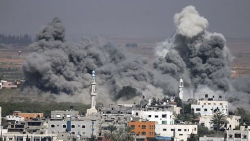 Gaza-smokeexplosions