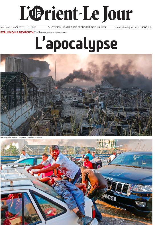 Beirut-explosions-FrenchNewspaper