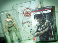 Basically, you'll find the Play Arts Kai Lara Croft with minimal plastic packaging (which serves its purpose well enough), and the Survival Edition of the game inside.