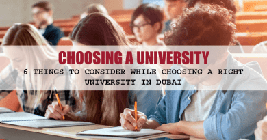Choosing a University in Dubai