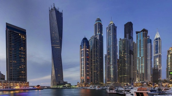 Cayan Tower Dubai Worlds Tallest Twisted Tower Opening