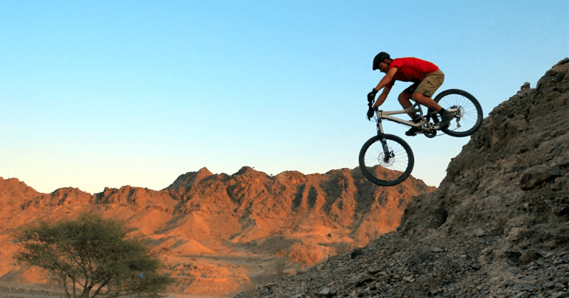 Cycling in Mountains in Dubai