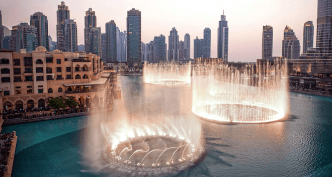 worlds largest dancing fountain
