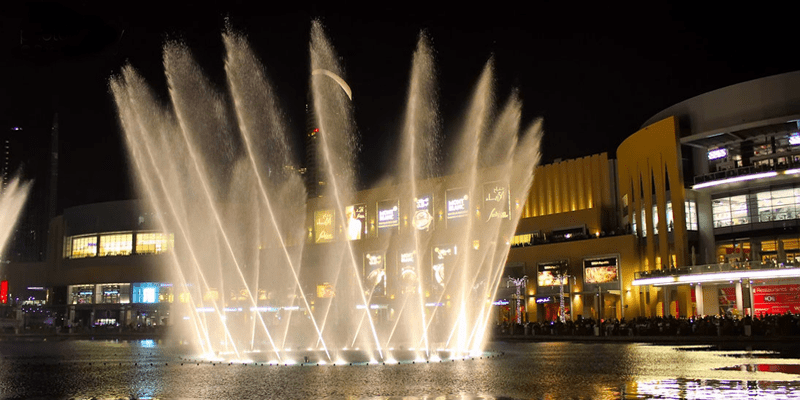 Dancing Fountains in Dubai