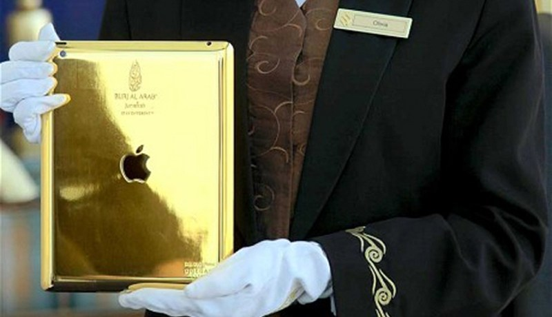 Gold iPad for Burj al Arab Guests