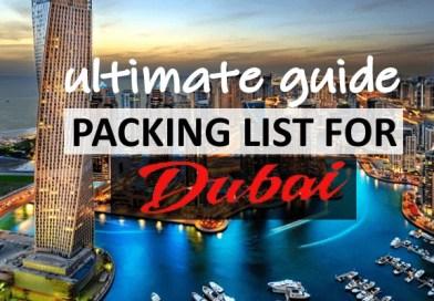 Packing List for Dubai