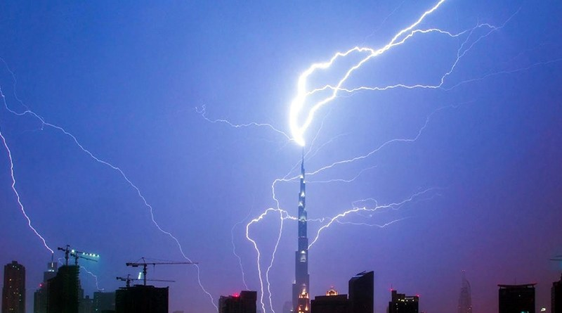 Thunderstorm and Rain in Dubai