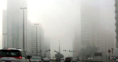thick fog in Dubai