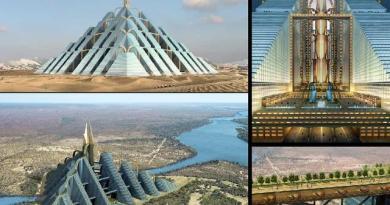 ziggurat pyramid Dubai