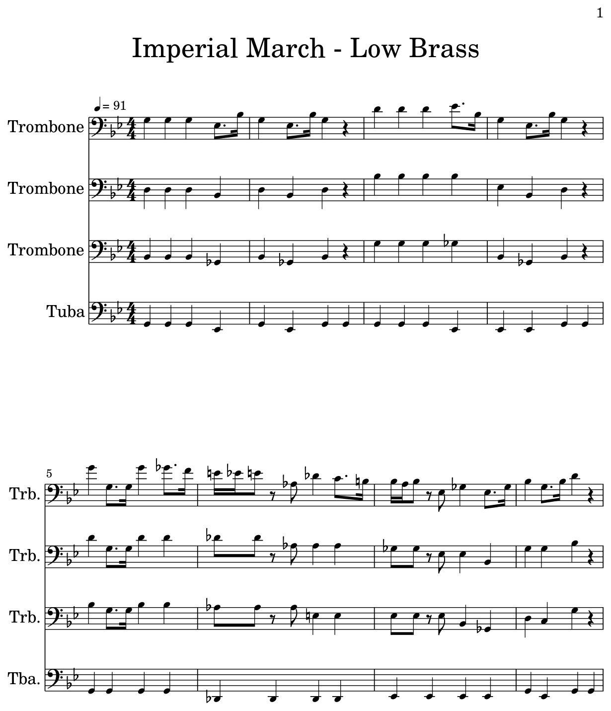 Imperial March Trombone Sheet Music : imperial, march, trombone, sheet, music, Imperial, March, Brass