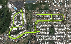 GPS recorded bike ride route