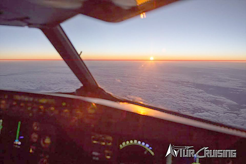 Airline pilot photo shows the curved earth