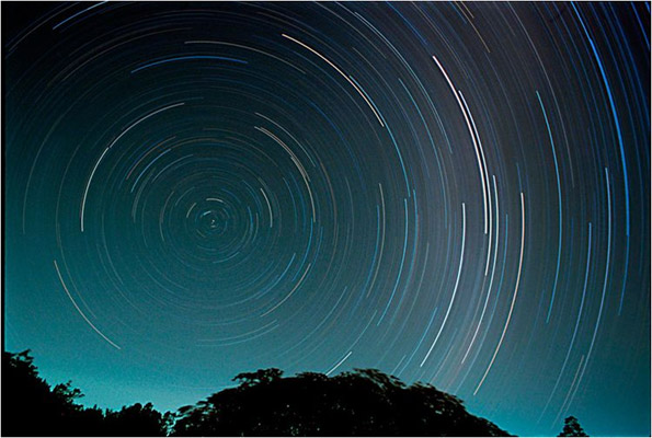 South Pole Star from Reunion Island, South Africa proves the globe Earth
