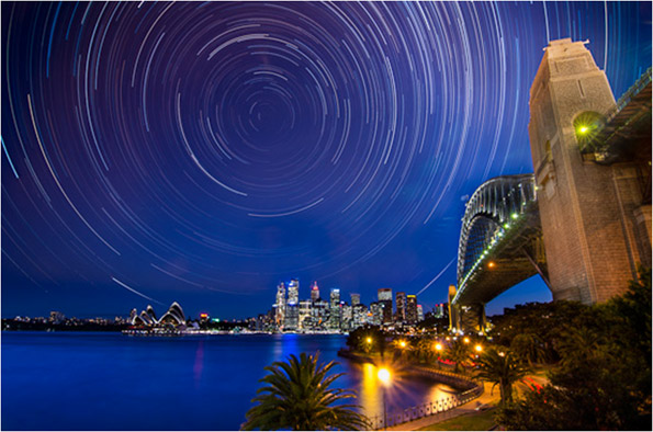 South Pole Star from Sydney Australia proves the globe Earth
