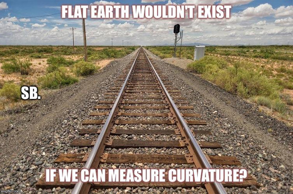 "Shane Brownell‎ posted this meme on the Flat Earthers in Christ Facebook group, saying ""Freight trains are NOT possible if the Earth had measurable curvature."""