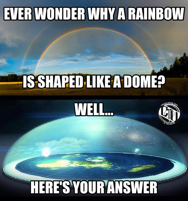 Flat earther Ryan James posted this image from Christian Truthers United, who is now promoting this deception.