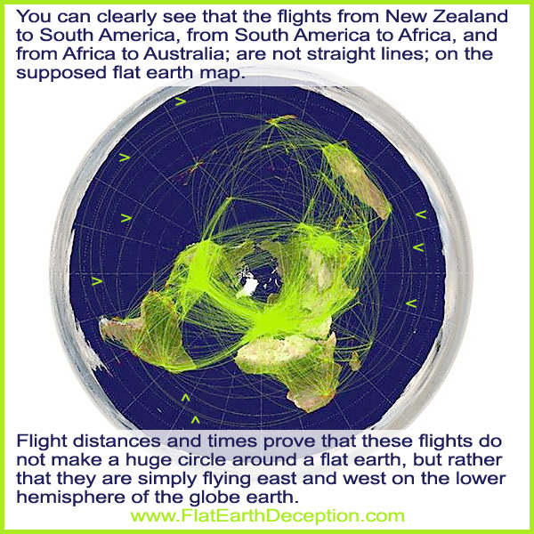 New Flat Earth Map.Airplane Flights In Southern Hemisphere Prove The Flat Earth Deception