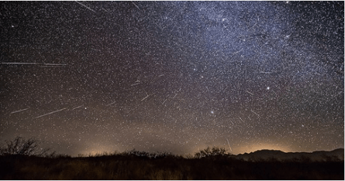 Andromedids meteor shower on the flat earth?
