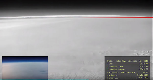 The High Altitude Balloon 18 video, which was published on Jan 7, 2019; shows the curvature of the earth.