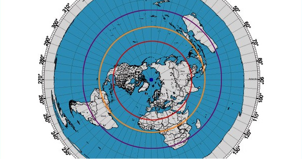 Question for flat earthers:  The winter solstice was on 12/21, so the sun is circling near the Tropic of Capricorn. What is the scientific explanation for how the sun changes its path, to move from the larger circle of the Tropic of Capricorn (32,729 mile circumference) to the much smaller circle of the Tropic of Cancer (18,504 mile circumference)?