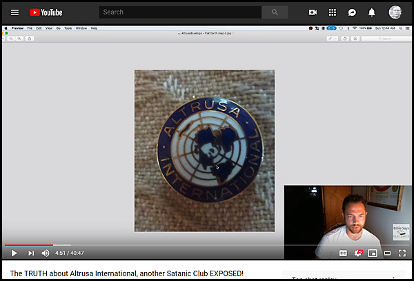 Nathan Roberts posted a video on his Flat Earth Doctrine YouTube page, called 'The TRUTH about Altrusa International, another Satanic Club EXPOSED!'