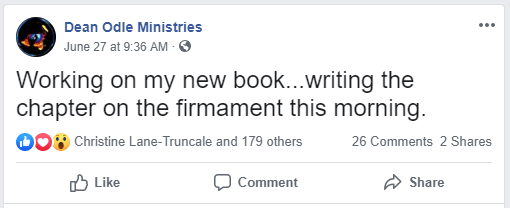 Dean Odle Ministries Flat Earth book