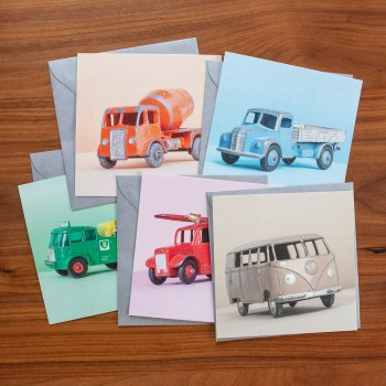 ansichtkaarten speelgoedauto's