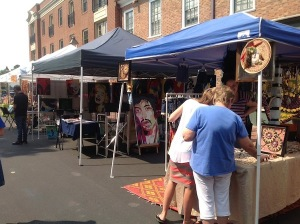 Some of the artisan-friendly booths at the festival. COURTESY PHOTO / SHIRLEY VERMILION