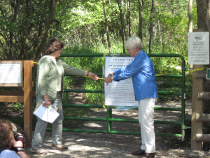 Ribbon Cutting at the Owen Sowerwine Natural Area Accessibility Trail Photo Credit: Linda Winnie