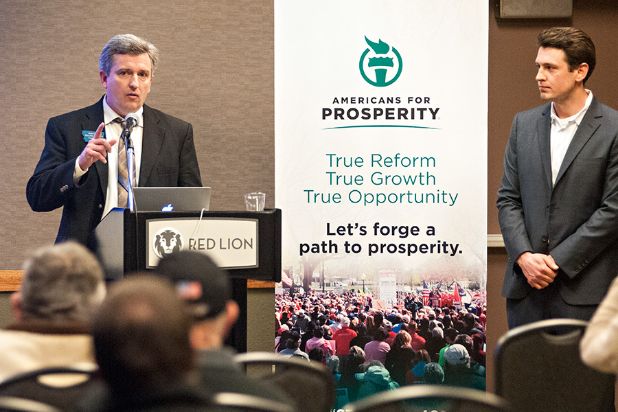 Image result for photos of gathering at americans for prosperity