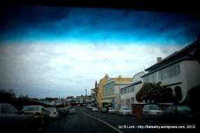 The quaint Main Road through Simon's Town