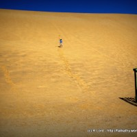 Attempting an ascent of Dune 7 outside Walvis Bay