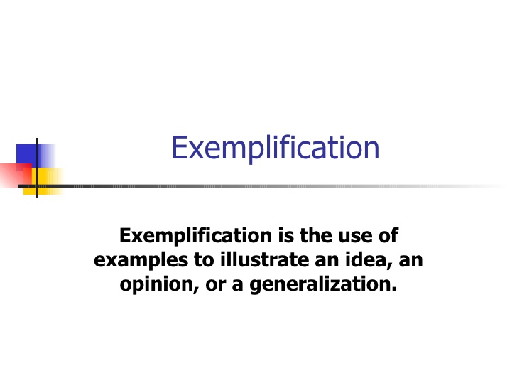 Exemplification Essay Outline.