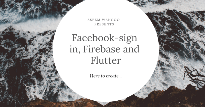 Firebase, facebook sign-in and Flutter