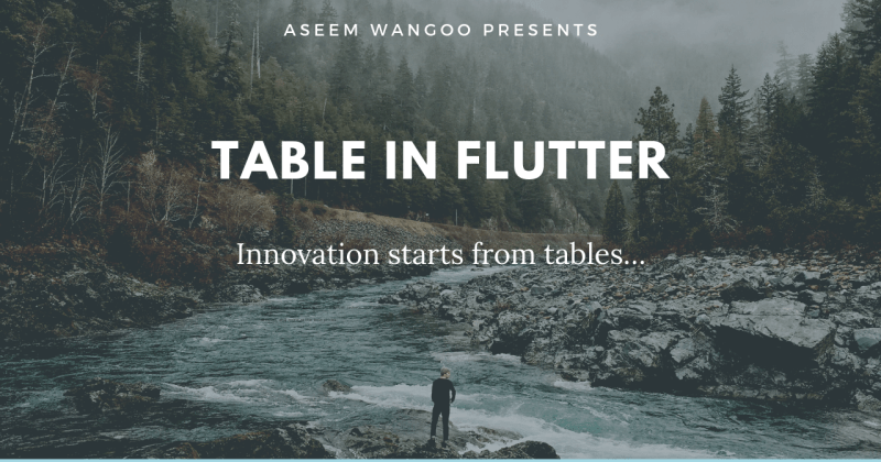 Table in Flutter