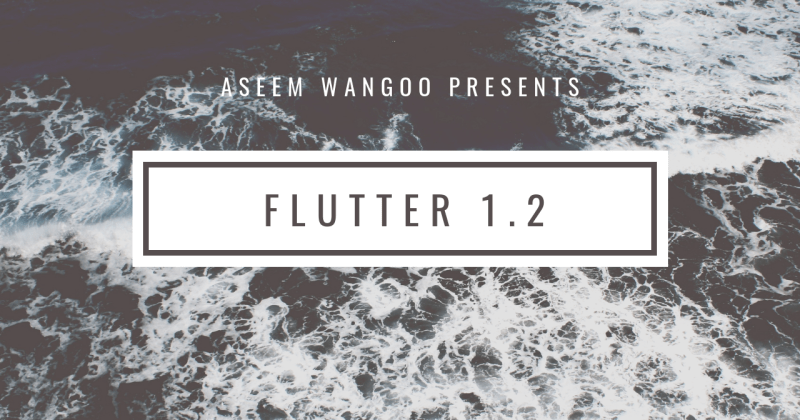 Flutter 1.2