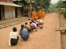 Alms in Muang Ngoy