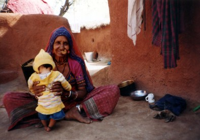 Animist Grandmother and child