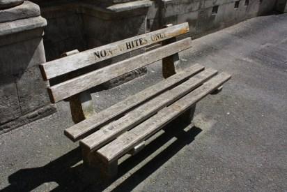 Non-whites Bench Outside High Court Civil Cape Town