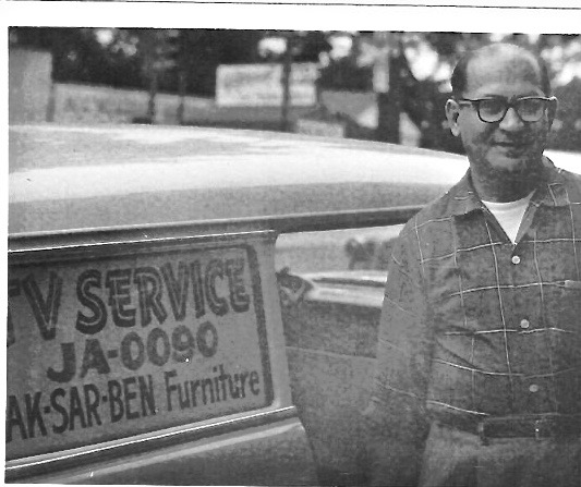 Dave Friedman, Harry's father, in 1958. Harry built a successful TV repair business in Omaha.
