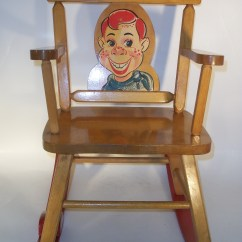 Howdy Doody Rocking Chair Polywood Modern Folding Adirondack Musical By Thayer Vintage 1950