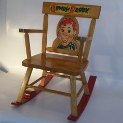 Howdy Doody Rocking Chair Pier 1 Musical By Thayer Vintage 1950