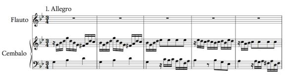 Bach — Sonata BMW 1020 (fragmento)