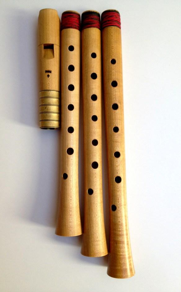 Flauta modelo Ganassi de Fred Morgan (1978)