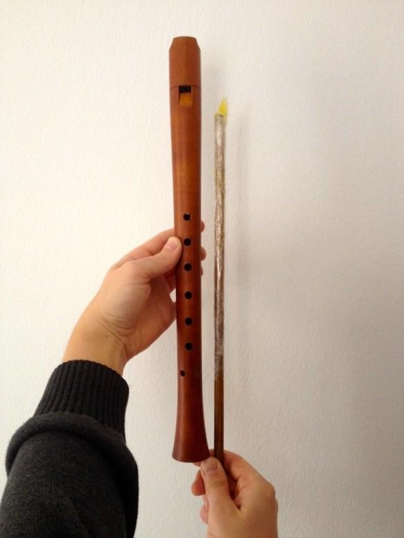 Midiendo la longitud del palo
