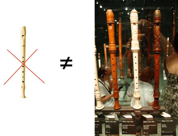 Flauta escolar vs flautas del siglo 18