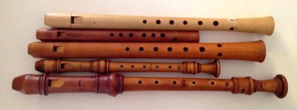 Distintos modelos de flautas